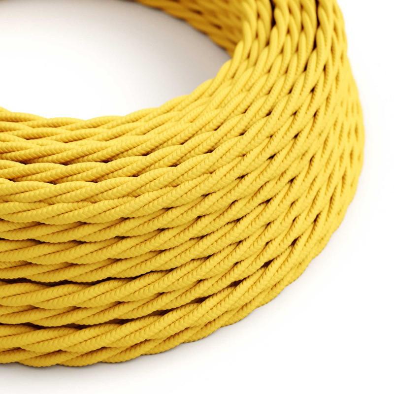 Zavit tekstilen električen kabel TM10 - rumen