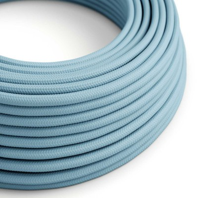Okrogel tekstilen električen kabel RM17- Baby Blue