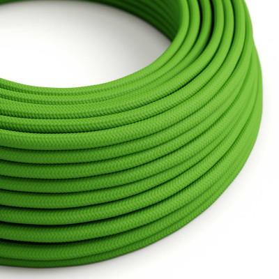 Okrogel tekstilen električen kabel RM18 - limeta zelen