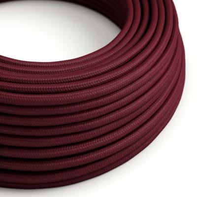 Okrogel tekstilen električen kabel RM19 - bordo