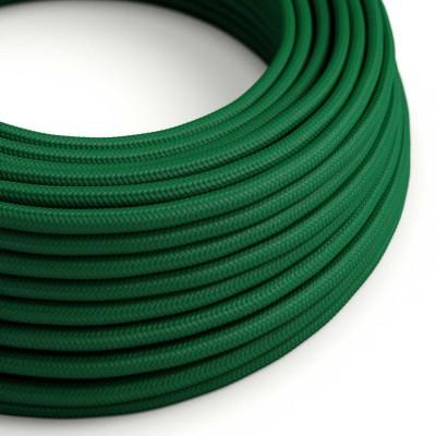 Okrogel tekstilen električen kabel RM21 - temno zelen