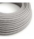 Okrogel tekstilen električen kabel RN02 - siv