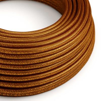 Okrogel lesketajoč tekstilen električen kabel RL22 - bakren