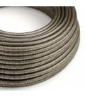 Okrogel lesketajoč tekstilen električen kabel RL03 - siv