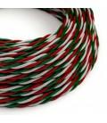 Zavit tekstilen električen kabel - barve Italije