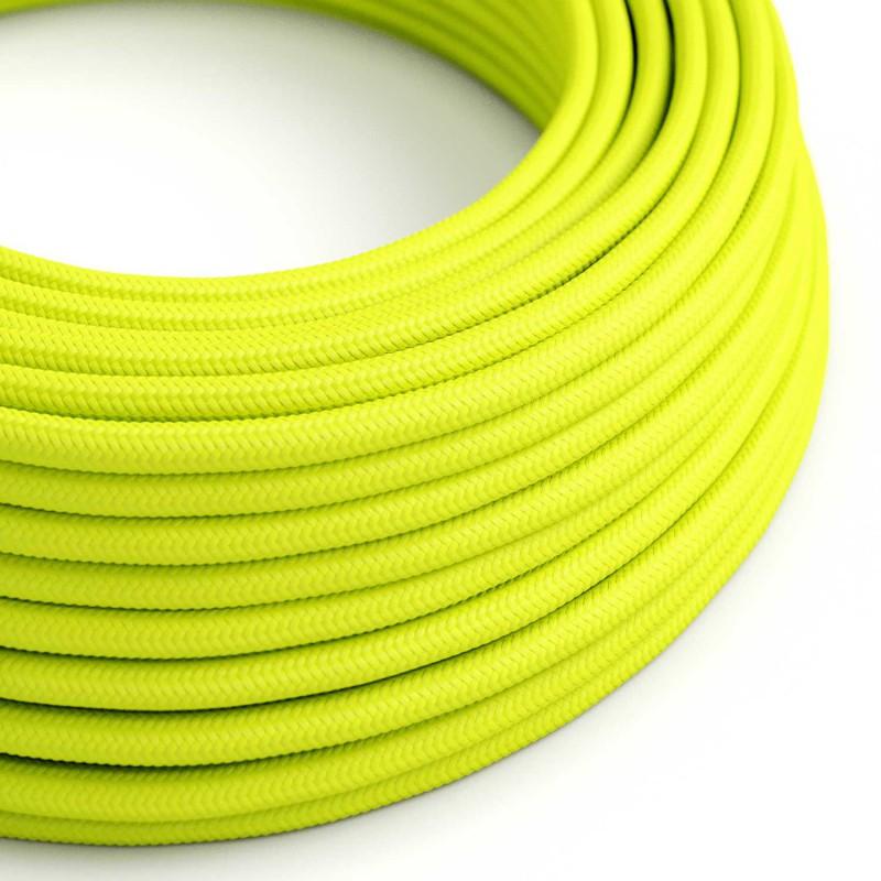 Okrogel tekstilen kabel Fluo rumen RF10
