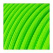 Okrogel tekstilen kabel Fluo zelen RF06