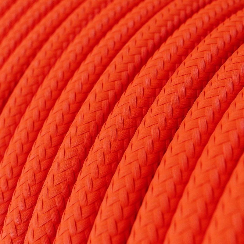Okrogel električen kabel Fluo oranžen RF15