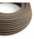 Okrogel tekstilen električen kabel RN04 Naravni rjavi lan