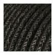 Okrogel električen tekstilen kabel RN03 Naraven antracit lan