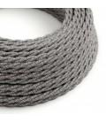 Zavit tekstilen električen kabel Lighting Flex TN02 Naravna siva