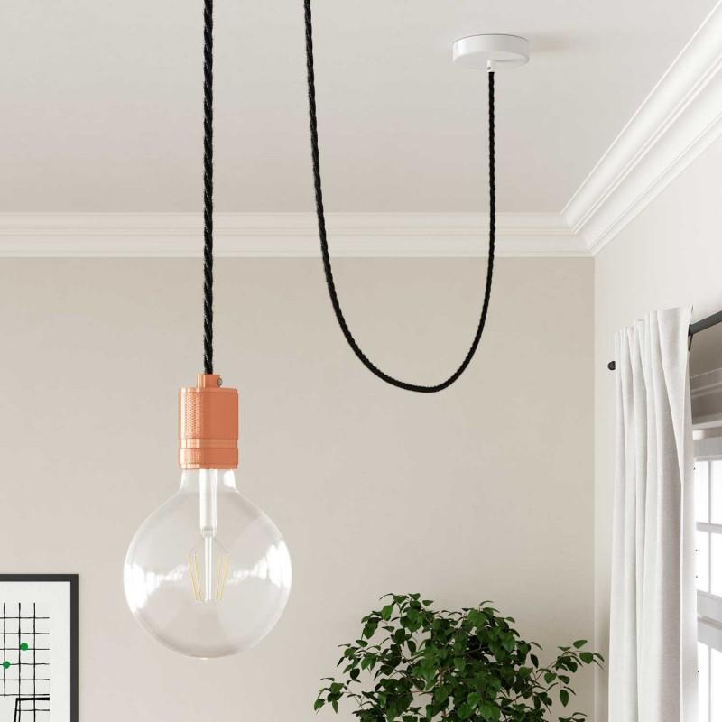 Zavit tekstilen električni kabel Lighting Flex TN03 Naravni antracit