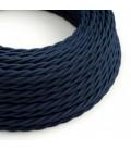 Zavit tekstilen električen kabel TM20 Temno moder