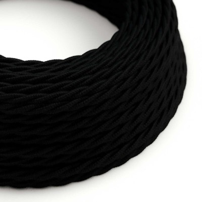 Zavit električen tekstilen kabel TC04, črni bombaž