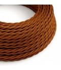 Zavit električen tekstilen kabel TM22, Whiskey, svilnat učinek