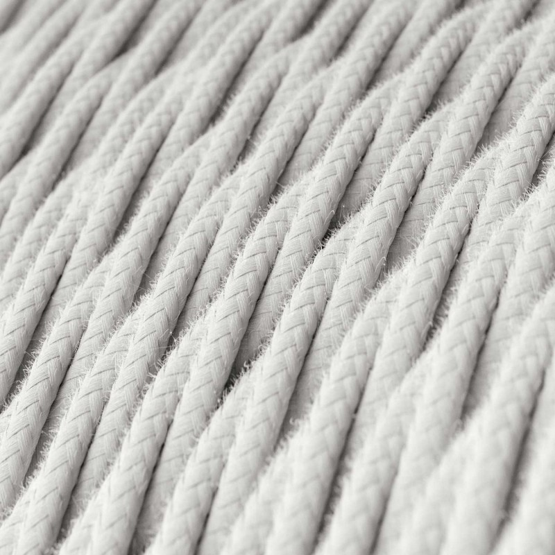 Zavit električen tekstilen kabel TC01 Bel bombaž