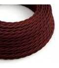 Zavit tekstilen električen kabel TM19 - svilnat bordo