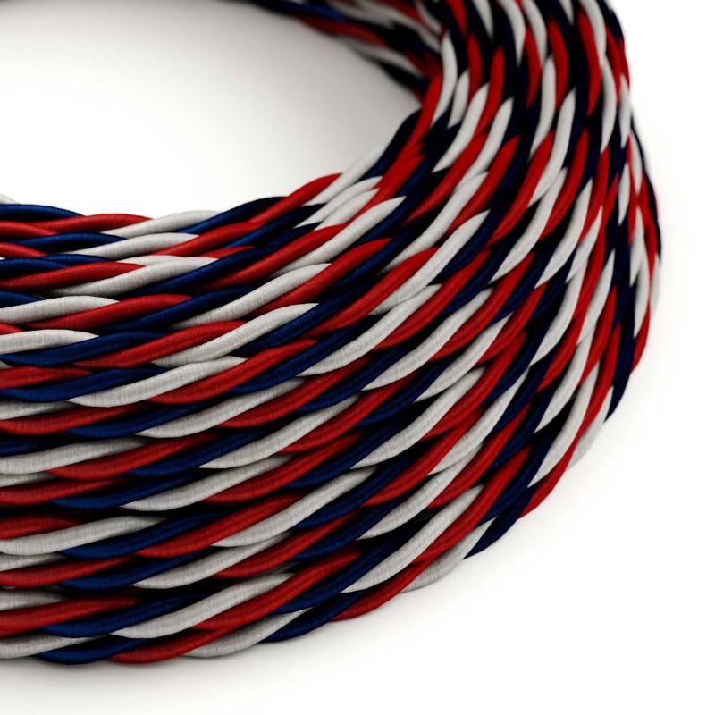 Zavit električen tekstilen kabel TZUSA svilnate barve Slovenije