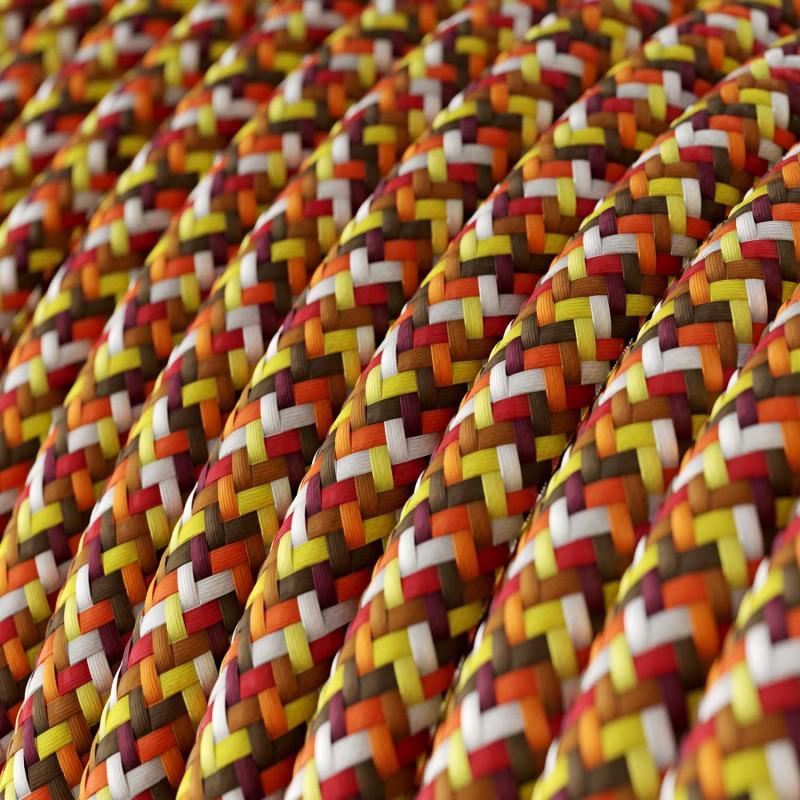 Okrogel električen tekstilen kabel - RX01 - Piksel oranžen