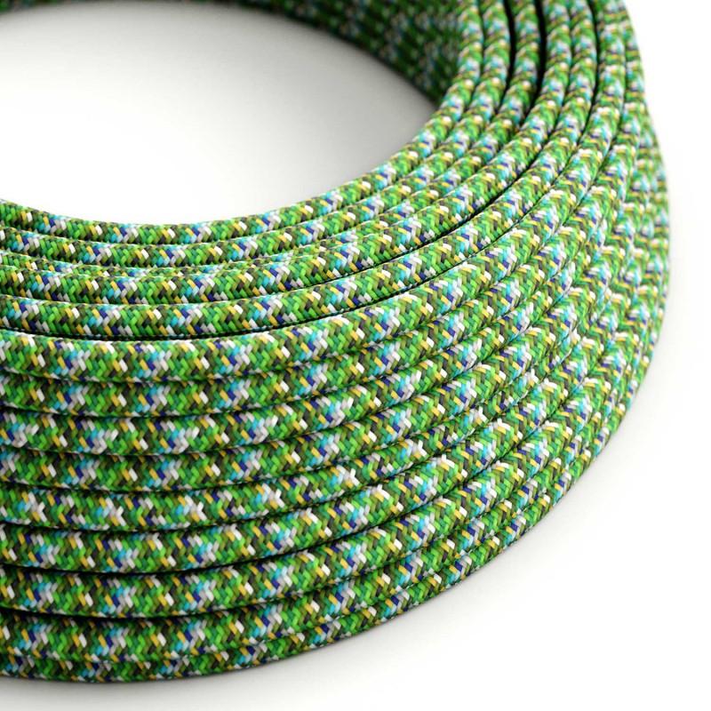 Okrogel električen tekstilen kabel - RX05 - Piksel zelen