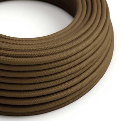 Okrogel električen kabel, rjav bombaž, RC13