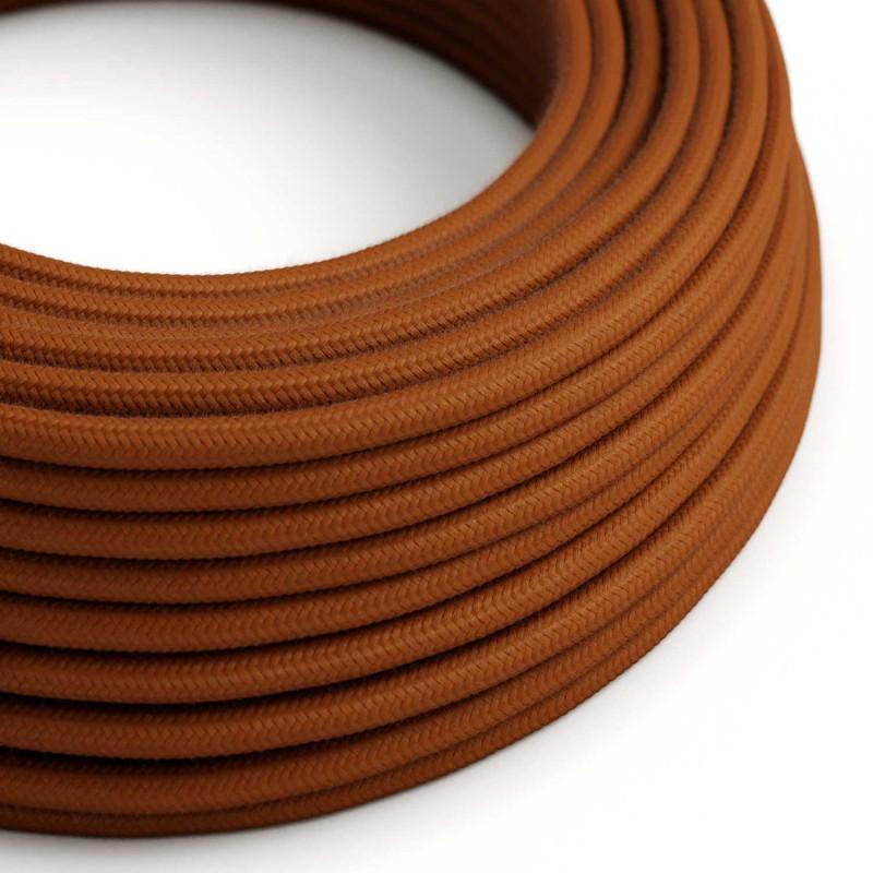 Okrogel električen kabel, jelenje rjav bombaž, RC23