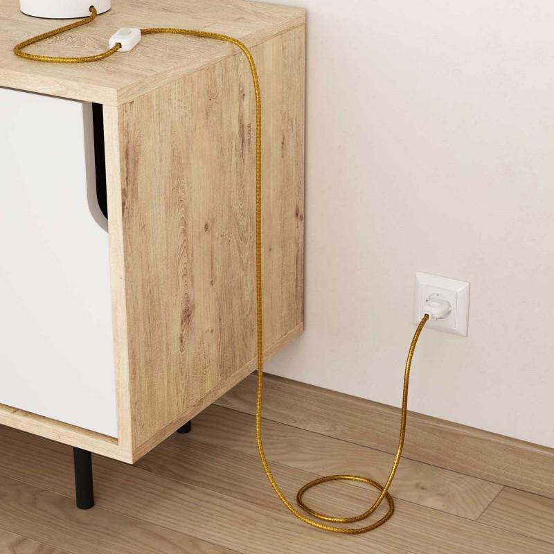Okrogel lesketajoč električen kabel RL05 - zlat