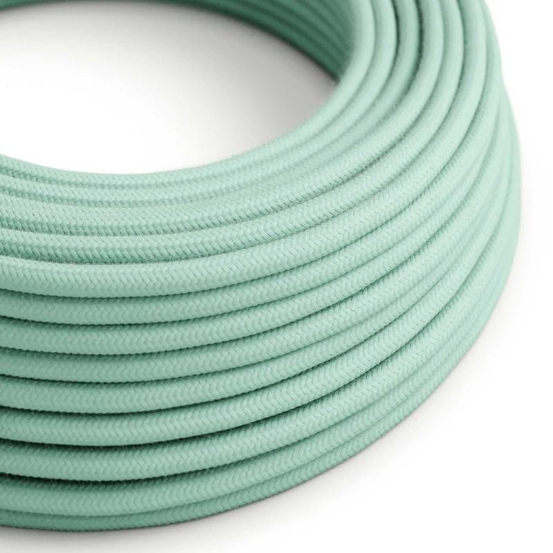 Okrogel električen kabel, svetlo mint bombaž, RC34