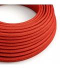 Okrogel lesketajoč električen kabel RL09 - rdeč