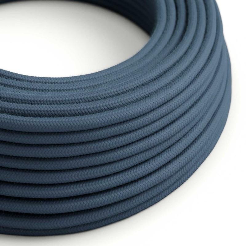 Okrogel električen kabel, kamnito-siv bombaž, RC30