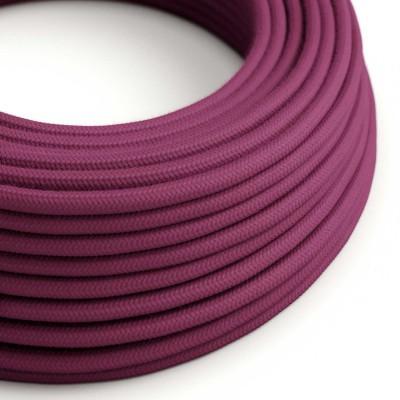 Okrogel električen kabel, bordo bombaž, RC32
