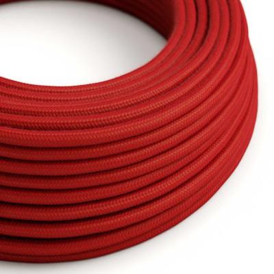 Okrogel električen kabel, ognjeno rdeč bombaž, RC35