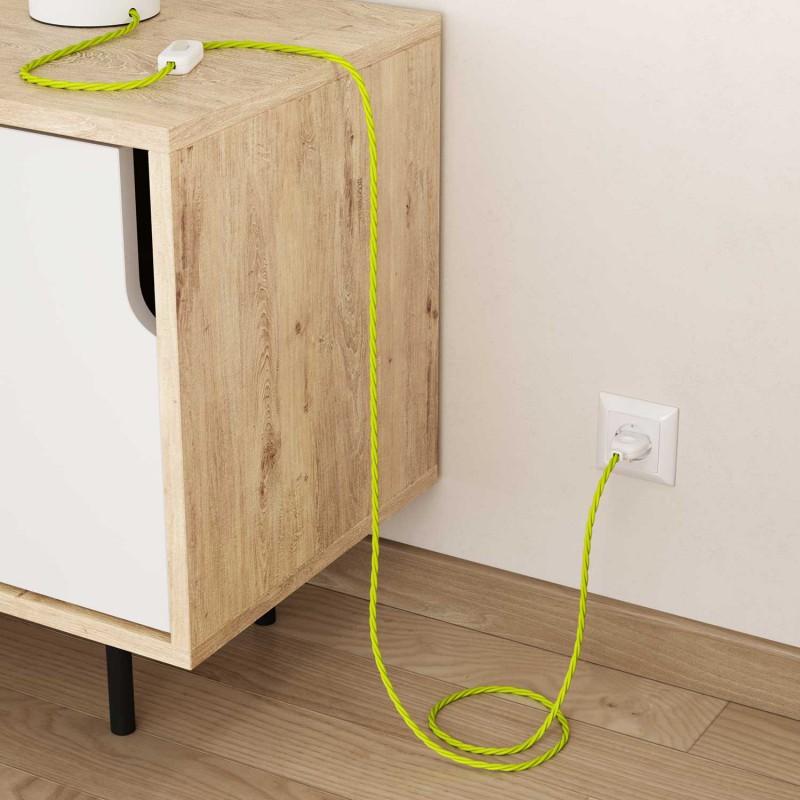 Zavit električen kabel, fluo rumen, TF10