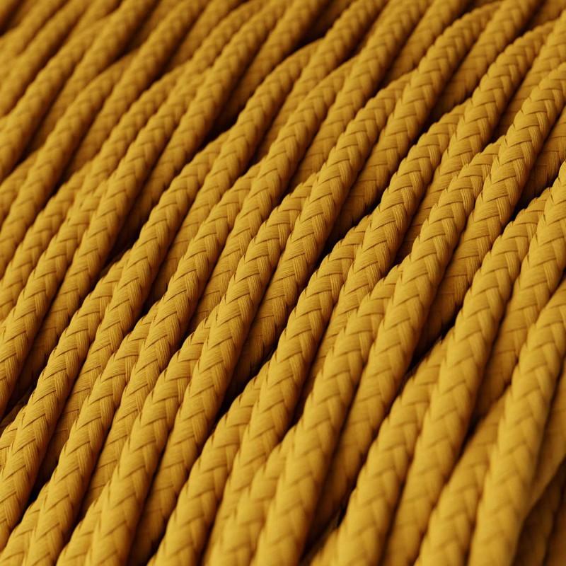 Zavit električen kabel, gorčično rumen, TM25