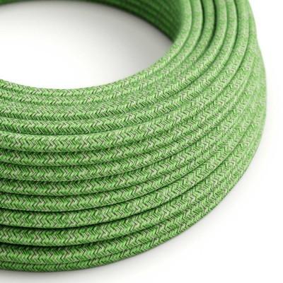 Okrogel tekstilen električen kabel, (Bronte) pistacija bombaž - RX08
