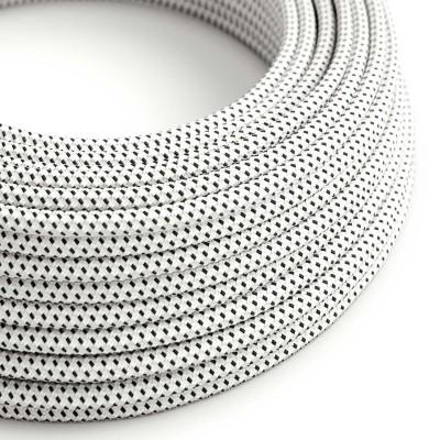 Okrogel tekstilen električen kabel, 3D efekt, Stracciatella RT14