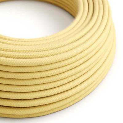 Okrogel električen kabel, svetlo rumena bombaž, RC10