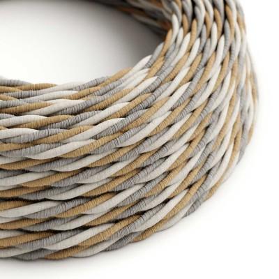 Zavit tekstilen električen kabel Country TN07 - prekrit z juto, bombažem in naravnim lanom