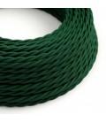 Zavit tekstilen električen kabel TM21 Temno zelen