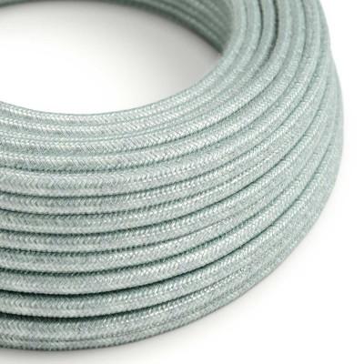 Okrogel tekstilen električen kabel, bombaž - Blue Haze RX12