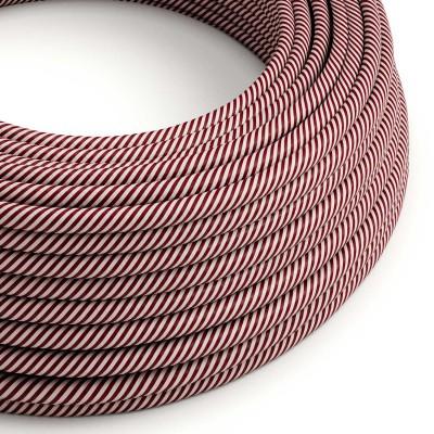 Okrogel eleketričen kabel Vertigo HD prekrit s tekstilom rozne in rjave barve ERM47