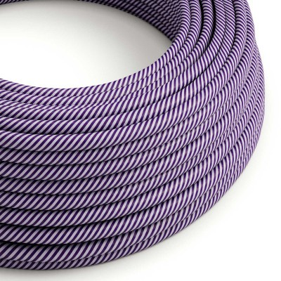Okrogel električen kabel Vertigo HD prekrit s tekstilom lila in temno vijolične barve ERM52
