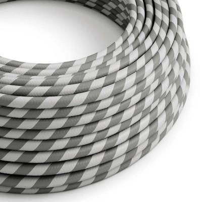 Okrogel električen kabel Vertigo HD prekrit z tekstilom sive in srebrne barve ERM55