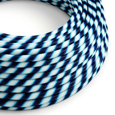 Okrogel električen kabel Vertigo HD prekrit s tekstilom Mr. Blue ERM60