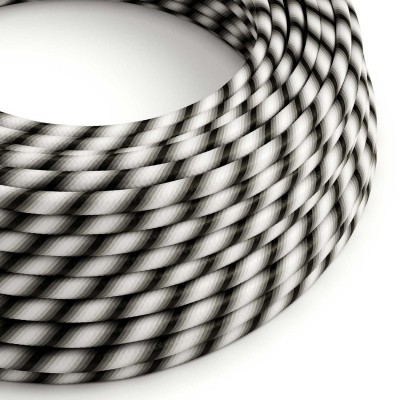 Okrogel električen kabel Vertigo HD prekrit s tekstilom Mr. Grey ERM63