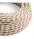 Okrogel električen kabel Vertigo prekrit z bombažem in bakrenim tekstilom ERR05