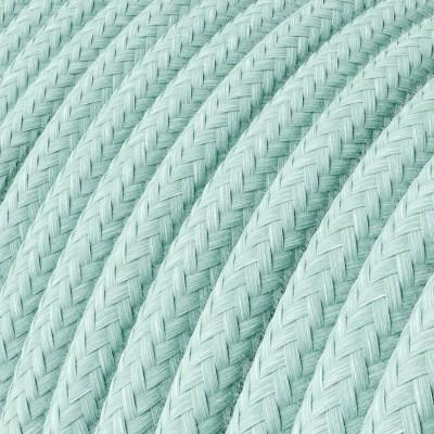 Okrogel električen kabel, bombaž RC18 Celadon Green