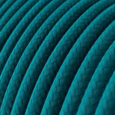 Okrogel električen kabel, bombaž RC21 Cerulean