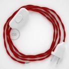 Komplet s stikalom, TM09 rdeč rejon 1,80 m. Izberite barvo vtikača in stikala.
