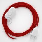 Komplet s stikalom, RM09 rdeč rejon 1,80 m. Izberite barvo vtikača in stikala.